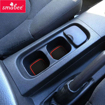 smabee  For FOR NISSAN NAVARA D40 4DR 2008-2012  Gate slot pad Interior Door Pad/Cup Non-slip mats 18pcs for nissan navara np300 d23 2015 2016 gate slot pad interior door pad cup non slip mats 20pcs