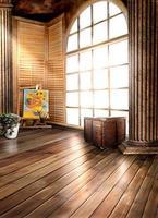 300 CM * 200 CM (über 10ft * 6.5ft) hintergründe Säulen Kuji malerei werke fotografie kulissen foto LK 1431