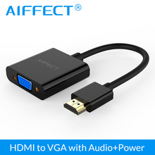 цена на AIFFECT HDMI to VGA adapter Digital to Analog Video Audio Converter Cable hdmi vga connector for Xbox 360 PS4 PC Laptop TV Box