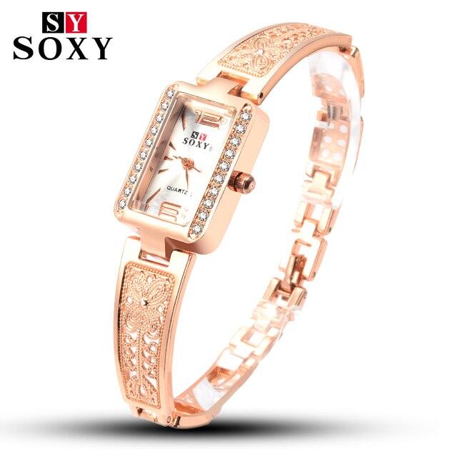 SOXY Fashion Luxury Brand Womens Wrist Watch Luxury Brand Female Quartz Watch Br