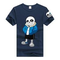 New Game Printed T Shirts Undertale Sans Cosplay Short Sleeves T Shirt Men Women Tops Tee