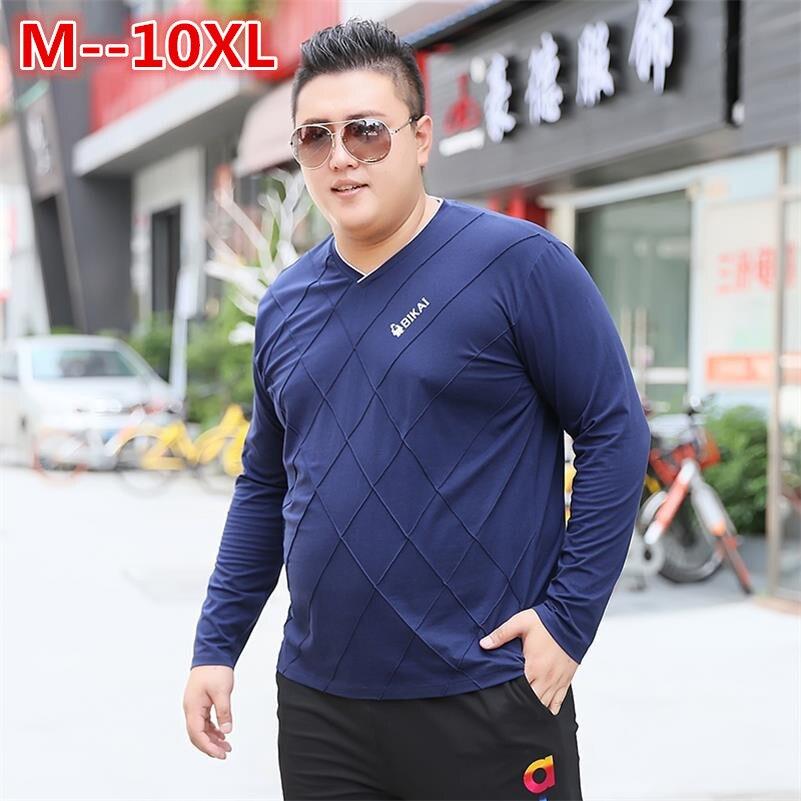 Marques Manches Casual Nouveau V De 2 À Mens Unie automne Col Mode 6xl 8xl Coton Couleur 1 Printemps shirt 10xl 5xl Longues Hommes T Homme tABZ1wqx