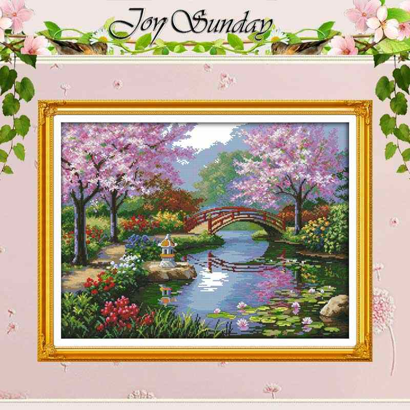 The Beautiful Scenery of  Park patterns Counted Cross Stitch 11CT 14CT Cross Stitch Kits for Embroidery Home Decor Needlework