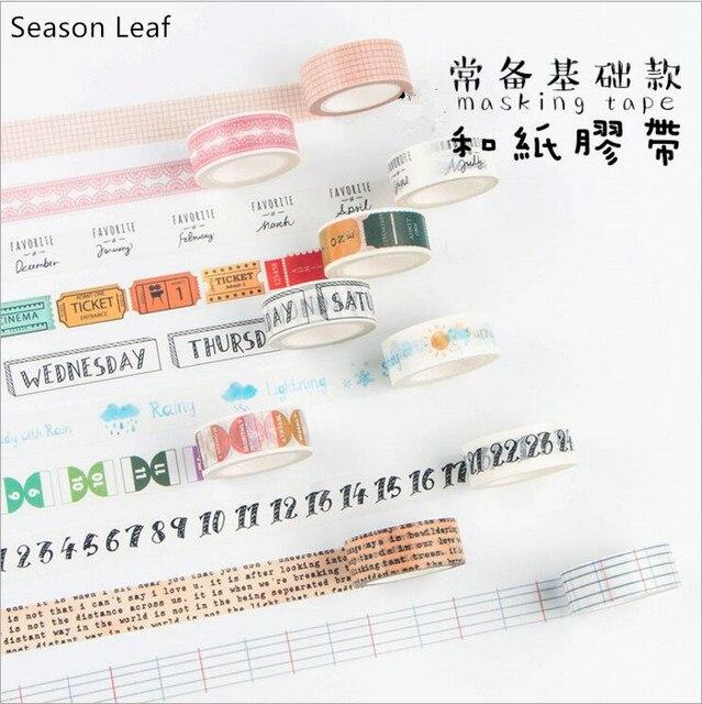 18 Styles Vintage Newspaper Traveller Diary Washi Tape Adhesive Tape DIY Decoration Planner Scrapbook Sticker Label Masking Tape