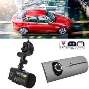 Image 5 - Araba kaydedici kamera GPS konumlandırma sürüş kaydedici HD 2.7 inç LCD ekran araba dvrı kamera ayna geniş açı Lens mikrofon