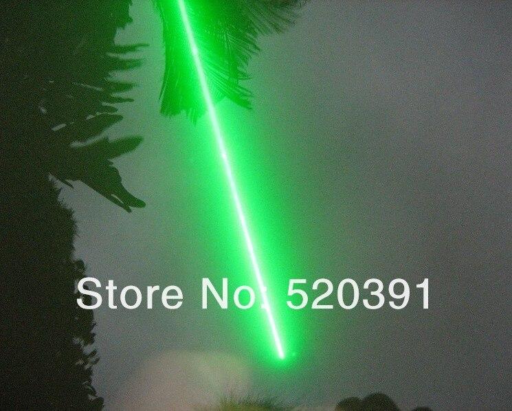 Власть военных 532 нм 5000mw /5 Вт Водонепроницаемый Зеленая Лазерная указка горящая спичка, сжигание Звезда указатель Факел + Бесплатная доставка