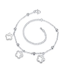 HOT SEXY 2016 Silver Anklets Heart Key Foot Bracelet Ankle Chain Women Fashion gift tornozeleira best selling jewelry
