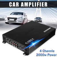 2000 w 4 canais carro amplificador alto-falante veículo amplificador de potência amplificador estéreo amplificador de áudio do carro amplificador de potência
