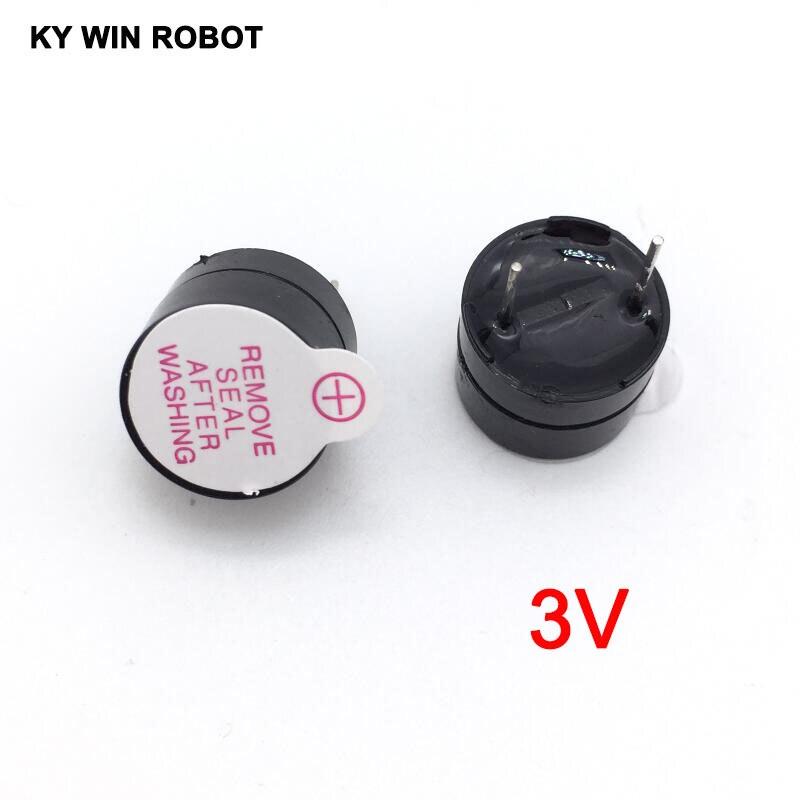 10pcs 3v Active Buzzer Magnetic Long Continous Beep Tone Alarm Ringer 12mm MINI Active Piezo Buzzers Fit For Arduino Diy Electro