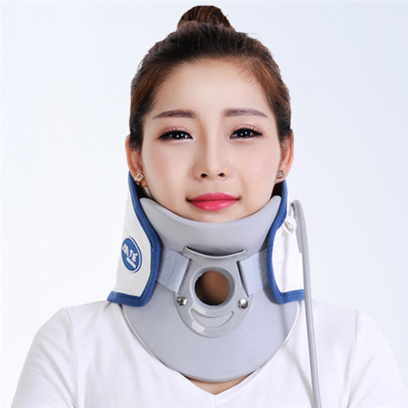 Home use Air wave collar orthoterion neck massage straightener bone care Support Braces relieve pain Cervical traction device medical neck support orthosis adjustable cervical collar device fixed traction braces vertebra rehabilitation head protection