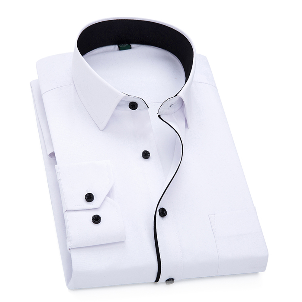 Black Button Men Shirt Long Sleeve Mens Shirts Casual Slim Fit Men Clothes 2019 High Quality Social Camisa Clothing for Man