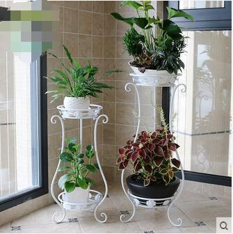 Europe type multilayer money plant flower pot frame, wrought iron flower sitting room balcony indoor and outdoor floor bracket