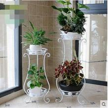 купить   Europe type multilayer money plant flower pot frame, wrought iron flower sitting room balcony indoor and outdoor floor bracket по цене 4038.79 рублей
