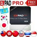 Lastest EVPAD PRO VS HTV IPTV Inteligente Android TV Box de Taiwán y Hong Kong y el Chino y Coreano y japonés y malasia Envío Canales en vivo
