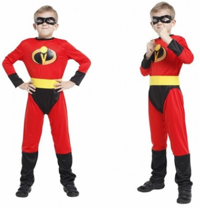 2019 New Kids Carnival Clothing Halloween Students'show  The Incredibles Costume Laser Boys Superman Cosplay Costume