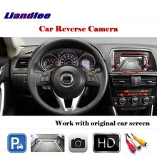Liandlee Auto Reverse Parking Camera For Mazda CX-5 CX5 2013 2014 / Rear Rearview Camera Back Work with Car Factory Screen for mazda cx 5 cx 5 cx5 2012 2017 ccd night vision intelligent car parking camera with tracks module rear camera