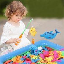 Креативная детская игрушка для купания, 22 шт., набор магнитных игрушек для рыбалки, Игрушки для ванны, высокое качество, изысканный