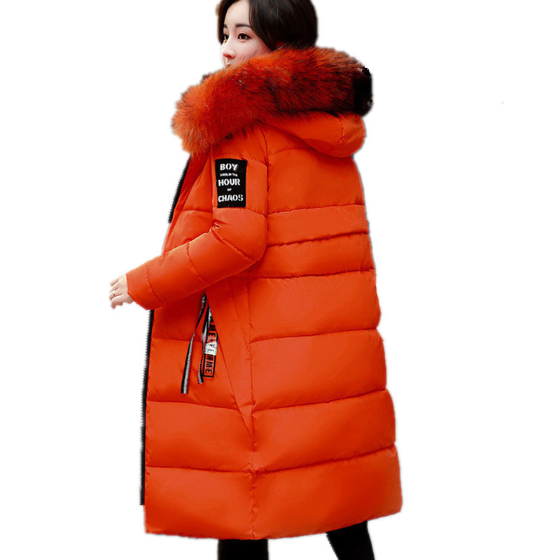 Winter Large Size Fur Collar Hooded Thick Winter Jacket Warm Padded Cotton Parka Overcoat Casual Wadded Jacket Women TT3184 цены онлайн