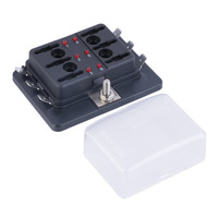 6 Way Circuit Car Automotive ATC ATO Fuse Box For Middle Size Blade A Maximum Current