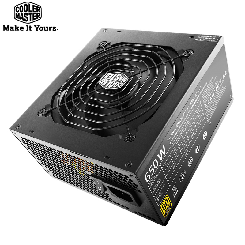 цена на Cooler Master Full module Rated 650W Computer Power supply Input Voltage 100~240V 80PLUS Safety Certification Office Game PC PSU