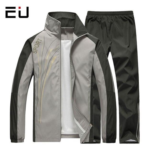 7ed3400ec5 Printemps Automne Sport Costume Hommes À Séchage Rapide À Manches Longues  Sport Costumes Survêtements Hommes de