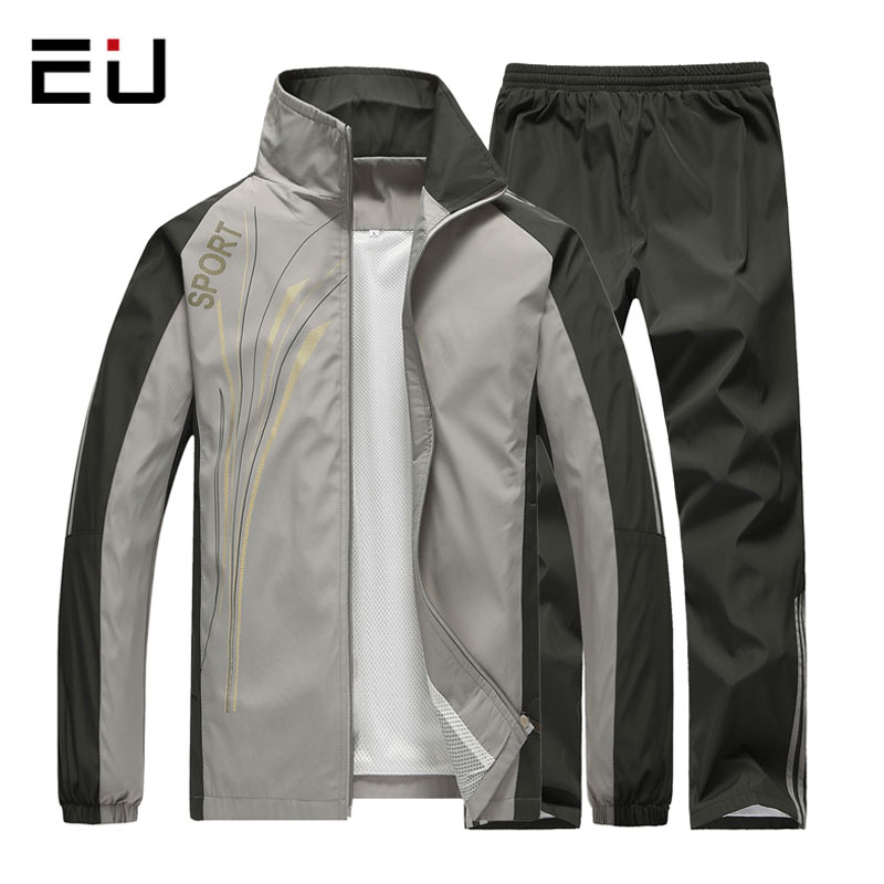 Spring Autumn Sport Suit Men Quick Dry Long Sleeve Sports Suits Tracksuits Mens Fitness Running suits Set Man Jogging Tracksuit