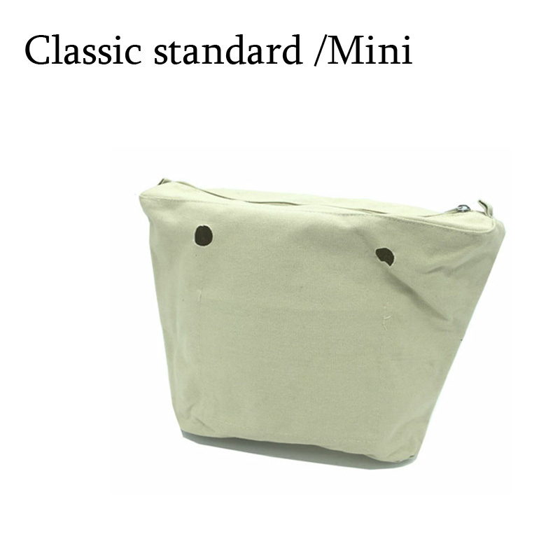 New Inner lining Insert Zipper Pocket Classic Mini For Obag Canvas insert with inner waterproof coating for obag new canvas insert tela insert for o chic lining canvas waterproof inner pocket for obag ochic