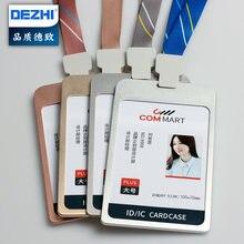 Dezhi 100 * 70 мм Высокое качество металлический бейдж с держателем