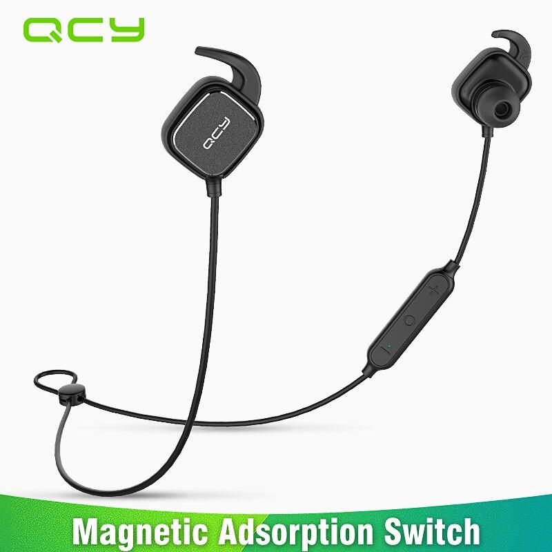 2017 QCY QY12 magnetschalter sport kopfhörer drahtlose Bluetooth kopfhörer sweatproof laufender headset gamer earbuds mit MIC