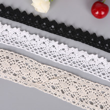 5 Yards/lot Multi Sizes White/Ivory/Black Color Crochet Knitting Cotton Lace Trim Fabric Ribbon For DIY Handmade Patchwork Craft
