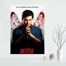 Custom canvas poster Dexter canvas painting poster wall Art poster Fabric Cloth Print(China)