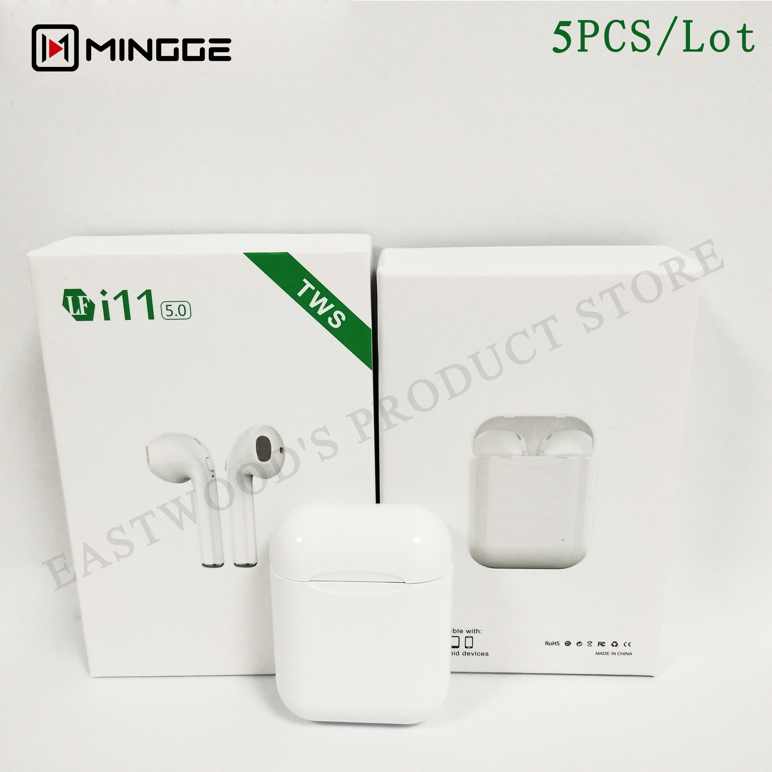 i11 TWS 5PCS/Lot Wireless Earphone V5.0 Bluetooth Headphone I7S TWS ear Mini Earbuds Headset for iPhone Samsung Xiaomi Huawei LG-in Bluetooth Earphones & Headphones from Consumer Electronics    1