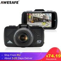AWESAFE 2 In 1 Car DVR Camera Ambarella A7LA50 GPS With Speedcam Super Full HD 1296P