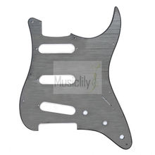 Alu Surface SSS ST Guitar Pickguard For FenderStrat US/Mexico Made Standard Modern Style