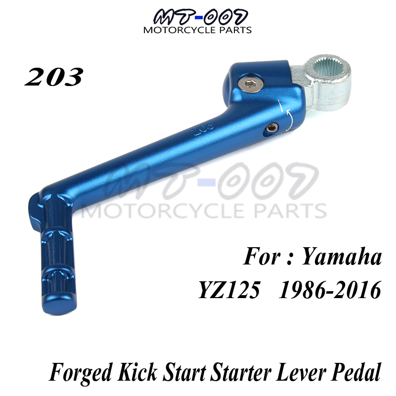 Forged Kick Start Starter Lever Pedal For YAMAHA YZ125 YZ 125 1986-2016 00 01 02 03 04 05 06 07 08 Off Road Dirt Bike Motorcycle new forged kick start starter lever pedal arm for ktm sx65 2016 motocross dirt bike off road motorcycle parts free shipping