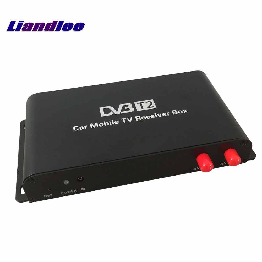 Liandlee для Германии DVB-T2 (H.265) 4 тюнер автомобильное Цифровое ТВ приемник D-ТВ мобильный ТВ коробка антенна MPEG-4/модель DVB-T2-M-688-H265