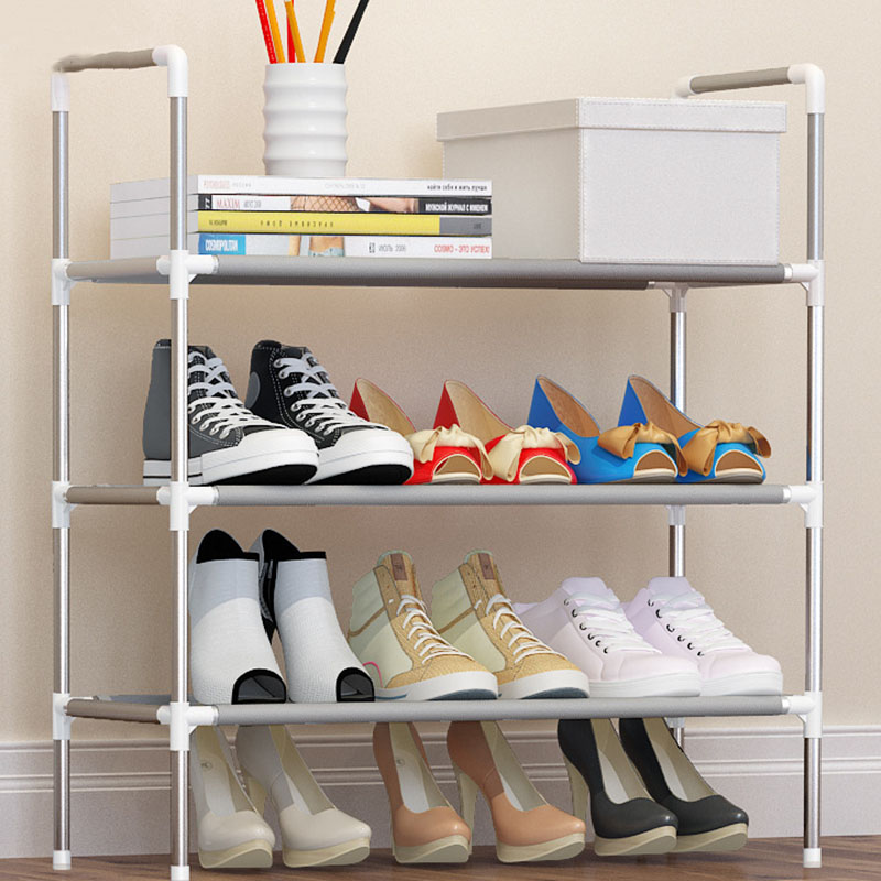 af5f709a3965 Simple Fashion DIY Assembly Metal Iron Shoes Shelf Student Dormitory Shoe  Storage Rack Multi layers Small Shoe Organizer Cabinet-in Shoe Cabinets  from ...