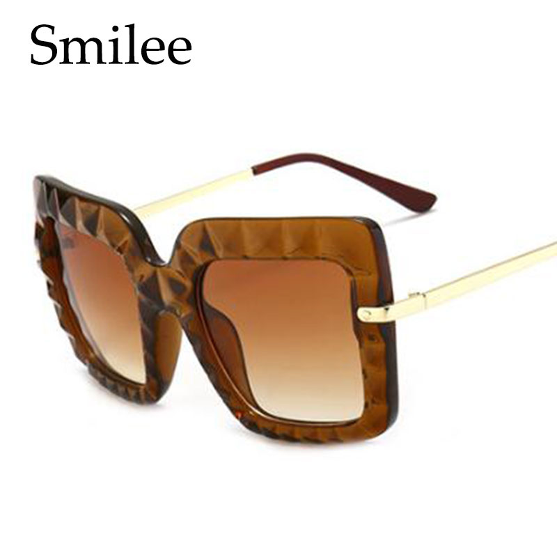 9b4d906fff Fashion Transparent Pink Sunglasses Women Vintage Brand Design Luxury  Square Sun glasses Big Frame Shades Eyewear