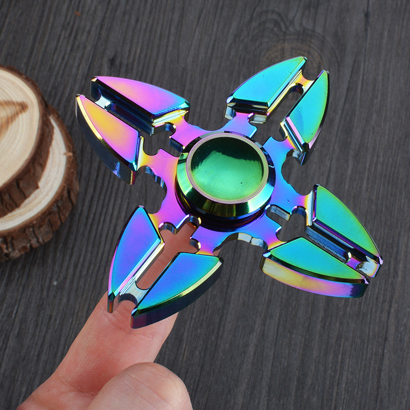 Doub K 10pcs/lot finger Spinner alloy Tri-Spinner hand spiner sliding puzzles For Adult Stress Relief New toys free shipping