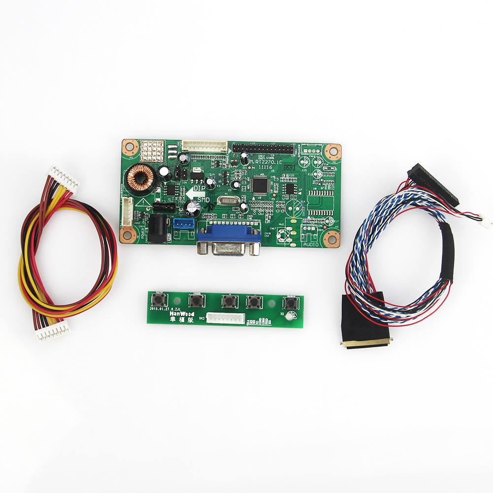 For B156XW02 LTN156AT02 M.RT2270 LCD/LED Controller Driver Board(VGA) LVDS Monitor Reuse Laptop 1366x768 lcd led controller driver board for b156xw02 ltn156at02 t vst59 03 tv hdmi vga cvbs usb lvds reuse laptop 1366x768