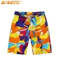 VICVIK Cortocircuitos del Tablero de Ropa de Playa Para Niños Moda Niños Bermudas Swim Shorts Surf Campaña D03X16 Hígado Ropa de Surf de Secado rápido