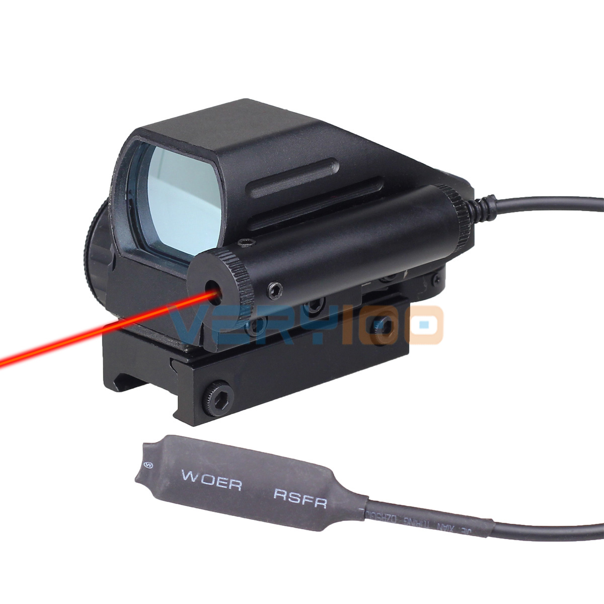4 Reticle & Red Laser Tactical Holographic Reflex Red / Green Multi-reticle Dot Scope Sight