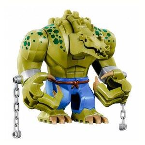 Promotion!! The Batman Crocodile Killer 10.5cm Figure Blocks Construction Building Bricks Toys For Children(China)