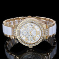 Mujeres de la Marca de Lujo de Cristal de Diamante Reloj de Ginebra de La Manera Reloj Rhinestone Señoras de Los Relojes de Cuarzo Reloj Relojes Mujer de Cintura 2016