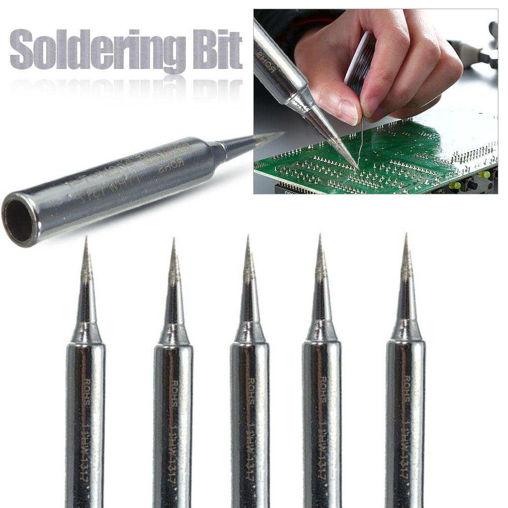 5PCS/Set 900m-T-I Lead-Free Solder Iron Head Tips Replacement Soldering Bit Welding Tool For DIY Rework Repair Station5PCS/Set 900m-T-I Lead-Free Solder Iron Head Tips Replacement Soldering Bit Welding Tool For DIY Rework Repair Station