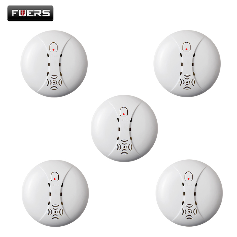 5pcs/lot Wireless Smoke/fire Detector smoke alarm for Touch Keypad Panel wifi GSM Home Security System without battery yongkang wireless 433mhz 1527 200k smoke detector for gsm alarm system