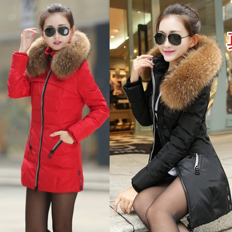 winter new fashion Korean Slim and long sections Nagymaros collar down cotton coat padded jacket female models