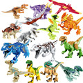 16 Unids Building Blocks Avengers Mundo Parque Jurásico Dino Mundo Juguetes de Dinosaurios Modelo Niños Juguetes de los Ladrillos de Regalo de Navidad Lepin Kaizi ser