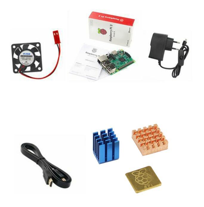 For Raspberry Pi 3 Starter Kit With Cooling Fan / Heatsink / Power Supply / Raspberry Pi Model BFor Raspberry Pi 3 Starter Kit With Cooling Fan / Heatsink / Power Supply / Raspberry Pi Model B
