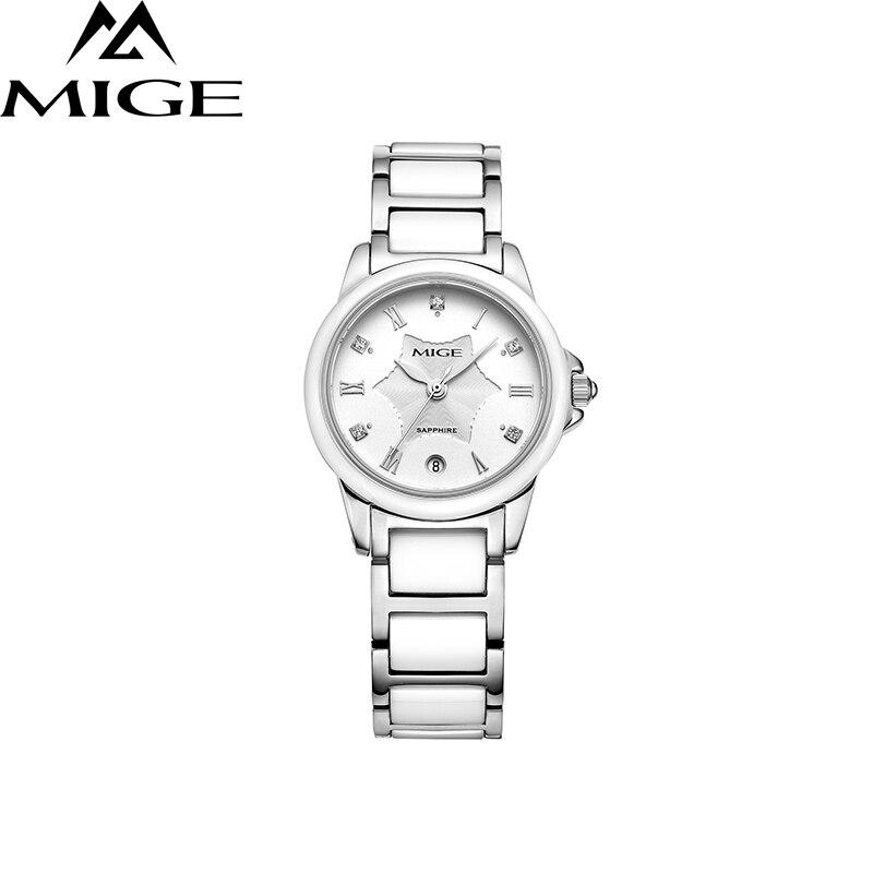 2017 настоящая распродажа брендовые модные женские часы водонепроницаемые повседневные белые керамические часы с циферблатом женские часы